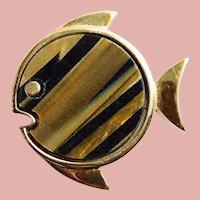 Fabulous TRIFARI Little Fish Vintage Brooch - Figural