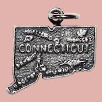 Sterling CONNECTICUT Vintage Charm - State Souvenir