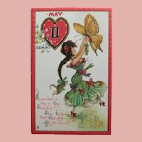 Antique Tuck's ZODIAC VALENTINE Gemini  Postcard - May - Series no. 128