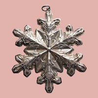 Fabulous GORHAM STERLING Snowflake Christmas Ornament 1973