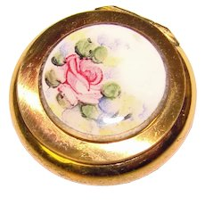 Tiny Little Vintage Box with Enameled Lid