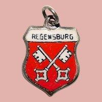 Sterling & Enamel REGENSBURG Charm - Souvenir of Germany - Travel Shield