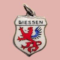 Sterling & Enamel GIESSEN Charm - Souvenir of Germany - Travel Shield