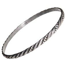 Gorgeous STERLING Patterned Bangle Bracelet