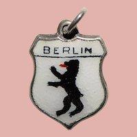 Sterling & Enamel BERLIN Charm - Souvenir of Germany - Travel Shield