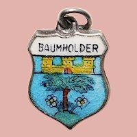 Sterling & Enamel BAUMHOLDER Charm - Souvenir of Germany - Travel Shield