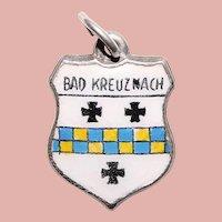 Sterling & Enamel BAD KREUZNACH Charm - Souvenir of Germany - Travel Shield