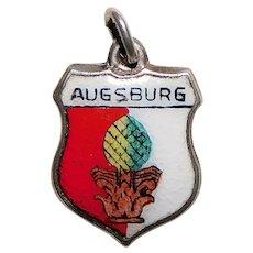 Sterling & Enamel AUGSBURG Charm - Souvenir of Germany - Travel Shield