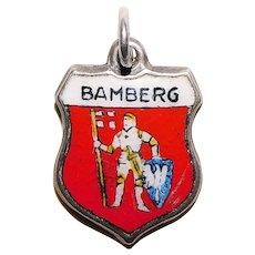 Sterling & Enamel BAMBERG Charm - Souvenir of Germany - Travel Shield