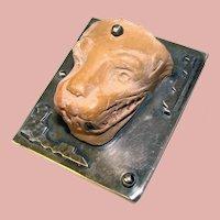 Fabulous CARMEN BECKMANN Sterling Jaguar Relic Artifact Rare Vintage Brooch - Mexican Mexico