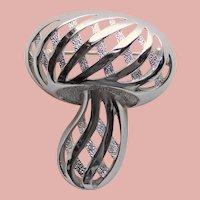 Fabulous TRIFARI Mushroom Vintage Brooch - Figural