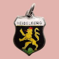 Sterling & Enamel HEIDELBERG Charm - Souvenir of Germany - Travel Shield