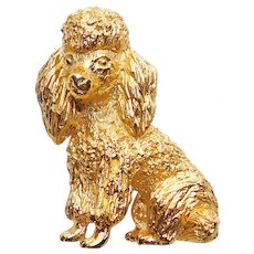 Adorable TRIFARI Poodle Dog Brooch