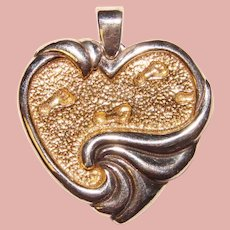 Gorgeous GORHAM STERLING Inspirational Heart Pendant