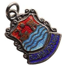 Sterling & Enamel SCARBOROUGH Charm - Souvenir of England Great Britain - Travel Shield