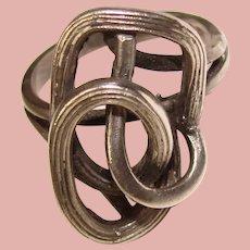Wonderful STERLING MODERNIST Design Signed Vintage Ring