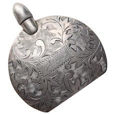 Fabulous STERLING Engraved Design Vintage Mini Perfume Bottle - Sally - Japanese Silver