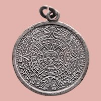 Awesome Sterling AZTEC CALENDAR Design Pendant