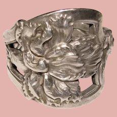 Fabulous STERLING Nouveau Flower Design Vintage Spoon Ring