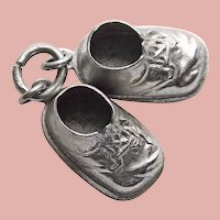 Sterling BABY SHOES Vintage Estate Charm - Booties