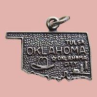 Sterling OKLAHOMA State Vintage Estate Charm