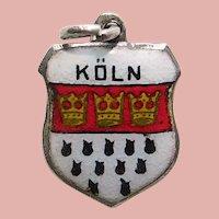 Sterling & Enamel KOLN Charm - Souvenir of Germany - Travel Shield
