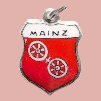 Sterling & Enamel MAINZ Charm - Souvenir of Germany - Travel Shield