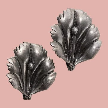 Gorgeous STERLING Lily Vintage Earrings - Screw Back