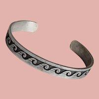 Fabulous STERLING Wave Design Vintage Bracelet