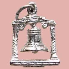 Sterling LIBERTY BELL Vintage Charm