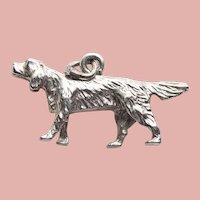 Sterling POINTER DOG Vintage Estate Charm
