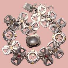 Fabulous MOONSTONE & STERLING Vintage Bracelet