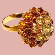 Fabulous JUDY LEE Vintage Rhinestone Ring