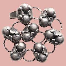 Fabulous MEXICAN STERLING Sphere Link Vintage Bracelet