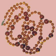 "Fabulous VENETIAN MURANO GLASS Beads Vintage Long Strand Necklace – 45"" Long"
