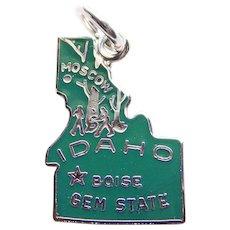 Sterling & Enamel IDAHO Vintage Charm - State Souvenir