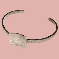 Fabulous STERLING Modernist Design Vintage Cuff Bracelet