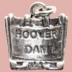Sterling HOOVER DAM Vintage Charm - Souvenir of Nevada or Arizona