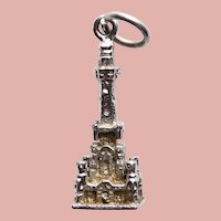 Sterling CHICAGO WATER TOWER Vintage Charm - Souvenir of Illinois - Signed Wells
