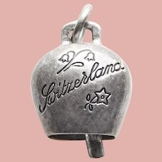 800 Silver Cowbell Cow Bell Vintage Charm - Souvenir of Switzerland