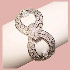 Fabulous TRIFARI Wide Patterned Design Vintage Bracelet
