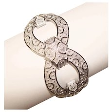 Fabulous TRIFARI Wide Patterned Design Vintage Bracelet