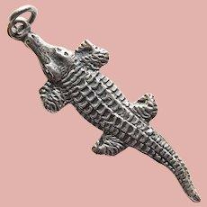 Sterling Alligator or Crocodile Vintage Charm