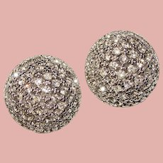 Fabulous CINER Signed Vintage Rhinestone Clip Earrings