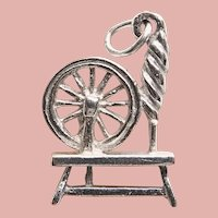 Sterling Spinning Wheel Vintage Charm