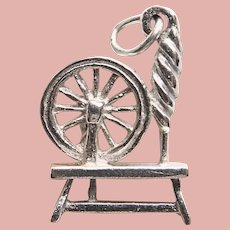 Sterling Spinning Wheel Vintage Charm