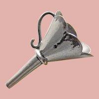 Tiny Sterling Perfume Funnel - Mini Miniature - Hallmarked