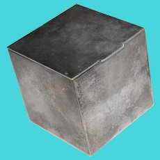 Gorgeous TIFFANY & CO Sterling Trinket or Pill Box - Cube Shaped