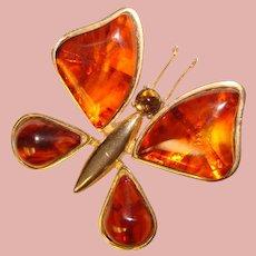 Fabulous CASTLECLIFF Bakelite Wings Butterfly Design Vintage Brooch