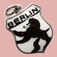 800 Silver BERLIN Charm - Souvenir of Germany - Travel Shield
